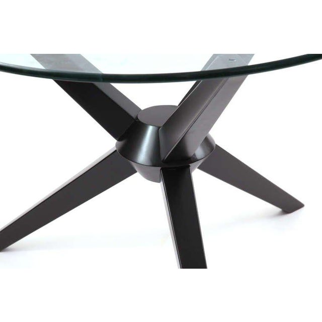 Mid-Century Modern Sculptural Ebonized Maple Dining Table For Sale - Image 3 of 5