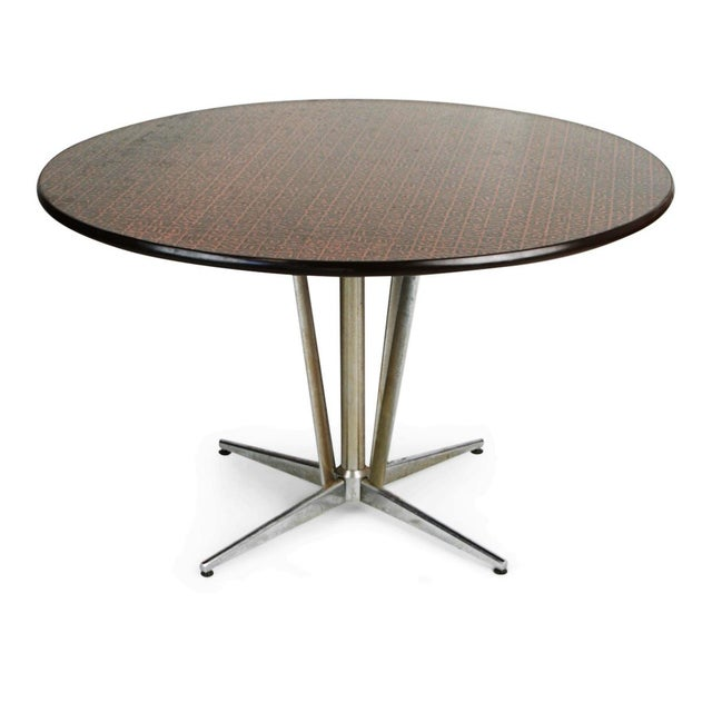89da14ab02ee Hand-Hammered Copper Top Circular Dining Table