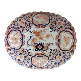 Japanese Hand Painted Imari Charger Plate For Sale