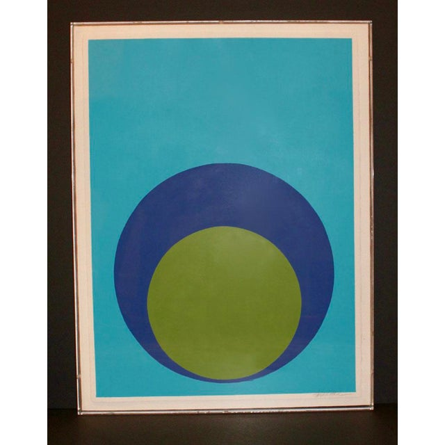 Double Dot on Turquoise in Acrylic Box For Sale In Atlanta - Image 6 of 7