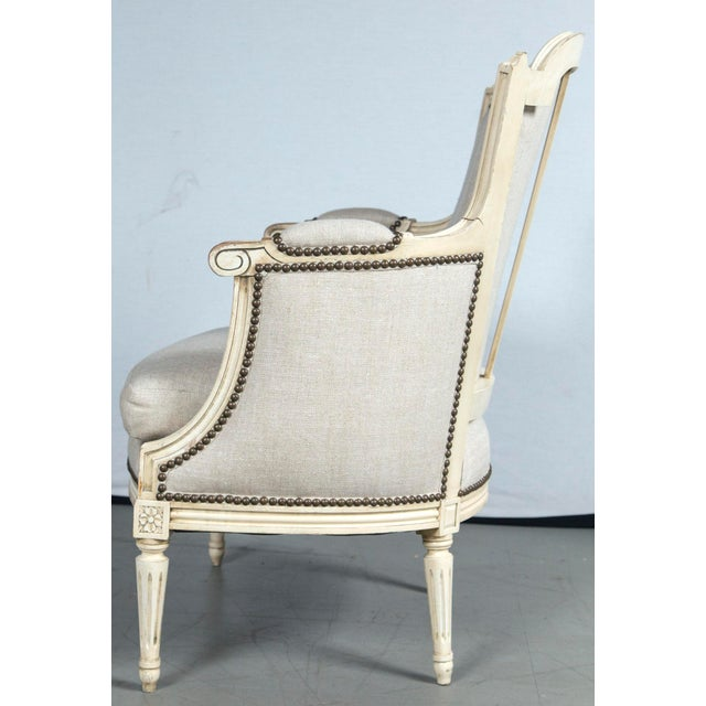 Early 20th Century French Louis XVI Style Bergeres - a Pair For Sale - Image 5 of 10