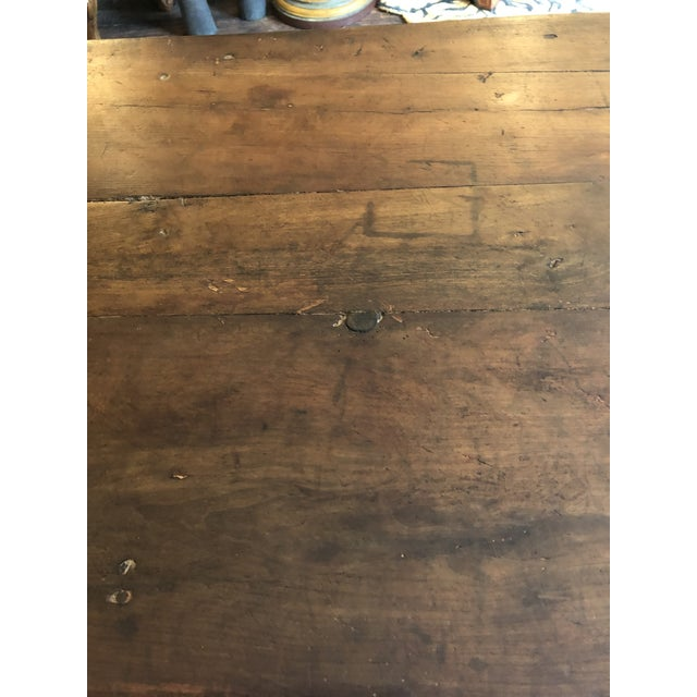 19th Century French Walnut Farm Table For Sale In Philadelphia - Image 6 of 13