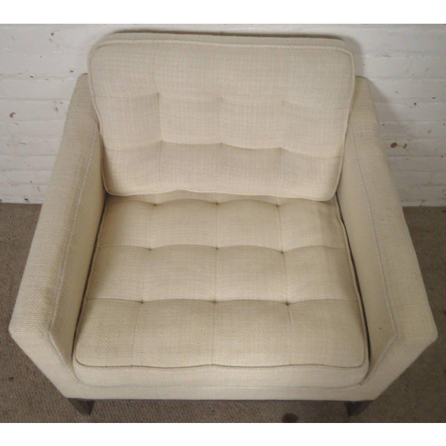 Brown Mid-Century Upholstered Armchairs by Knoll Associates - a Pair For Sale - Image 8 of 10