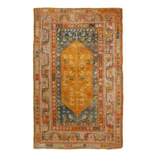 Late 19th Century Antique Oushak Angora Wool Rug- 4′ × 6′6″ For Sale