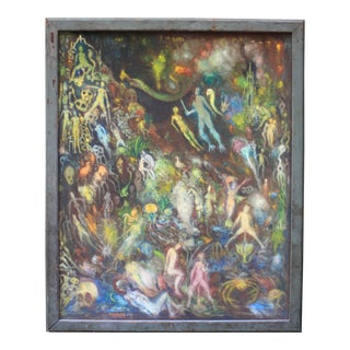 """""""The Garden of Earthly Delights"""" Surrealist Painting For Sale"""