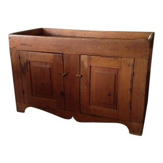 1800's Pine Dry Sink Storage Chest For Sale