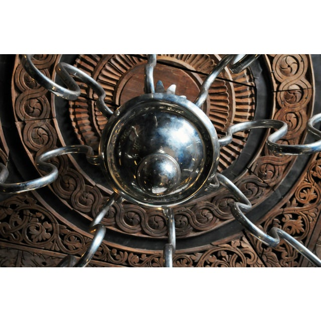 Early 20th Century Hungarian Art Deco Chandelier For Sale - Image 9 of 9