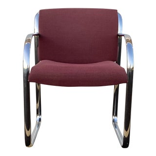 1980s Steelcase Chrome Chair For Sale