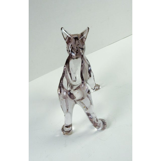 French Bull Dog Figural Glass Dish - Image 6 of 6