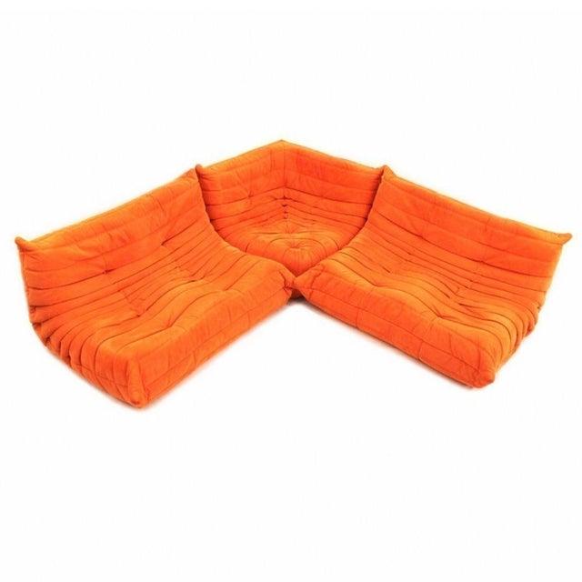 Michel Ducaroy for Ligne Roset Orange Togo Sofas - Set of 3 - Image 11 of 11