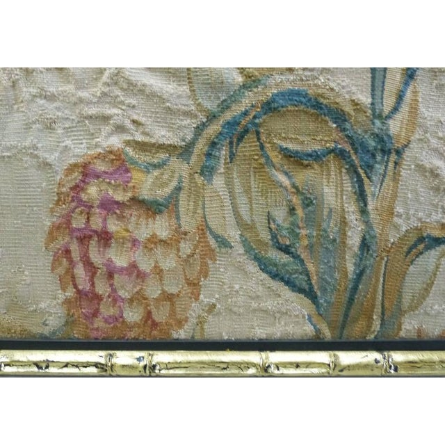 Giltwood 18th Century Floral Aubusson Panels, Set of Three For Sale - Image 7 of 11