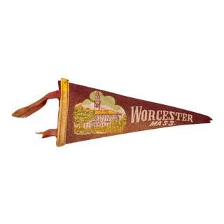 Worchester Mass. Felt Flag