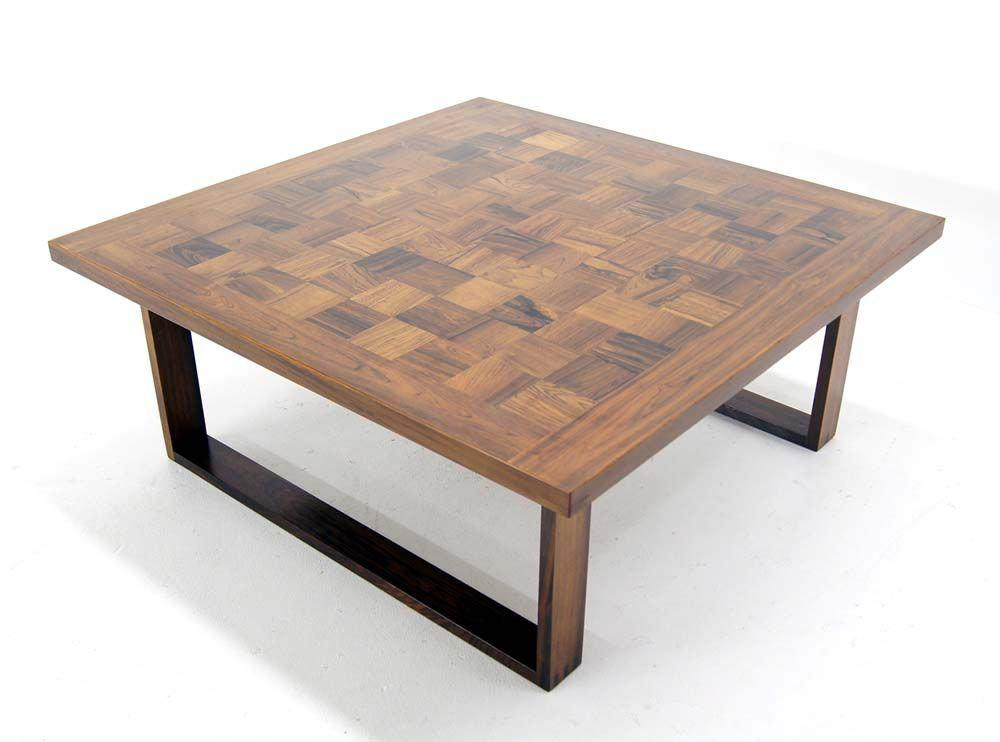 Danish Modern Square Parquet Rosewood Coffee Table By Paul Cadoviuos    Image 3 Of 9