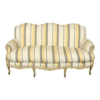 French Louis XVI Jansen Style Striped Sofa For Sale