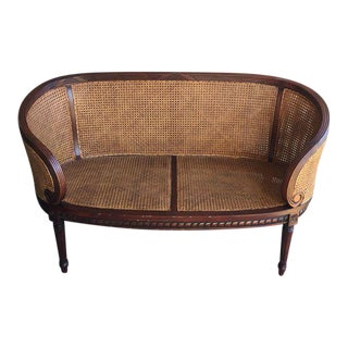 Antique Cane Settee