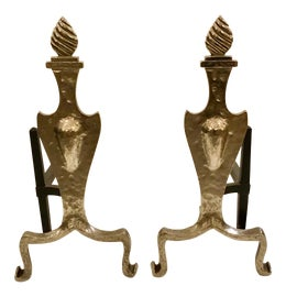 Image of Art Deco Andirons and Chenets