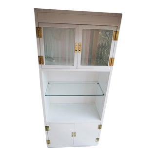 Henredon Scene One Display Cabinet Painted in White For Sale