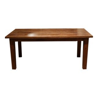 19th c. Elmwood Chinese Door Dining Table