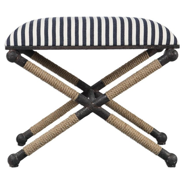 Nautical Striped Bench - Image 1 of 3