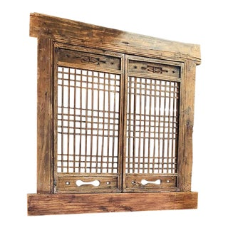 Chinese Ming Style Hand Carved Antique Architectural Room Divider Screen For Sale