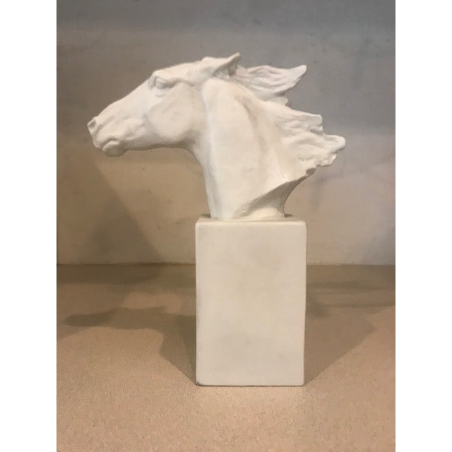 Ceramic Horse Head Hannibal Rosenthal Statue by Albert Hussman For Sale - Image 7 of 7