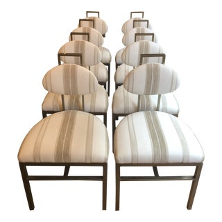 Contemporary Custom Designed Dining Chairs- Set of 8 For Sale