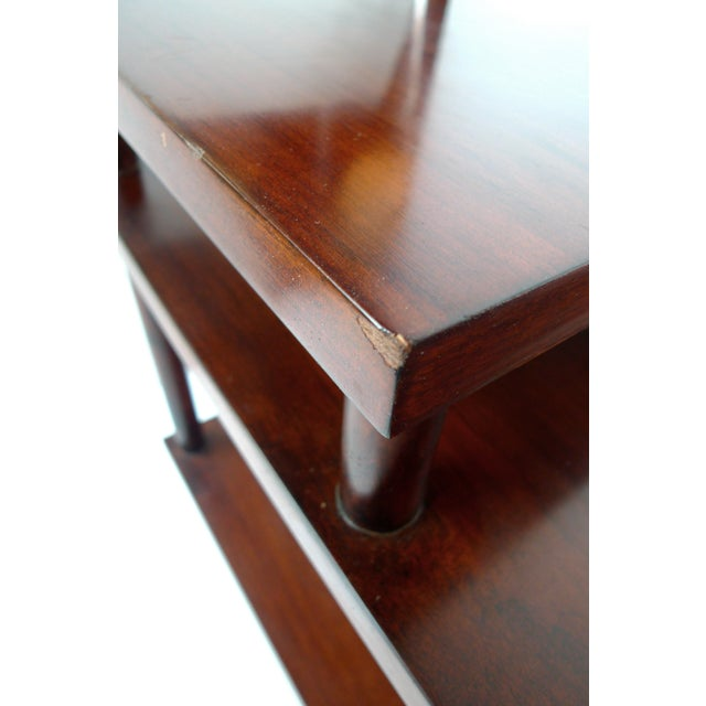 Wood Robsjohn-Gibbings Tiered Side Table for Widdicomb For Sale - Image 7 of 10