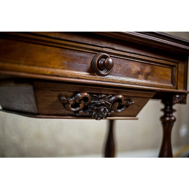 Wood 19th Century Walnut Sewing Table or Card Table For Sale - Image 7 of 13