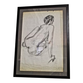 French Academic Figural Drawing For Sale