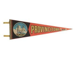 Vintage Provincetown, Mass. Felt Flag Pennant