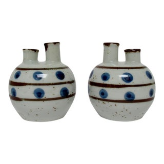 Japanese Porcelain Bud Vases, a Pair For Sale
