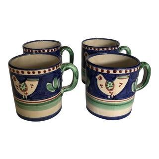 Vintage Vietri Campagna Vintage Italian Mugs - Set of 4 For Sale