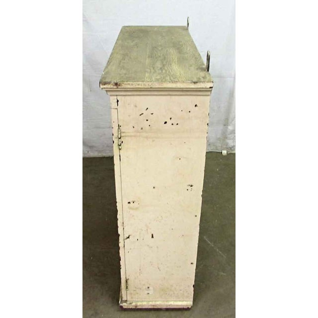 Antique White Wooden Key Hanging Cabinet Box For Sale - Image 4 of 11