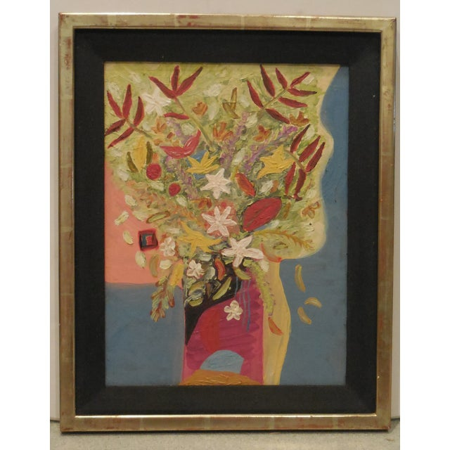 Vintage Oil Painting - Cubist Floral - Image 4 of 11