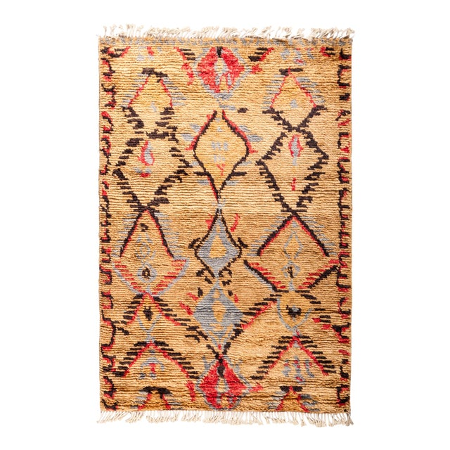 "Tullu Hand Knotted Area Rug - 4' 2"" x 6' 2"" - Image 1 of 4"