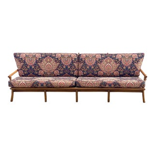 Vintage Bamboo Long Sofa in the Manner of John Wisner for Ficks Reed For Sale