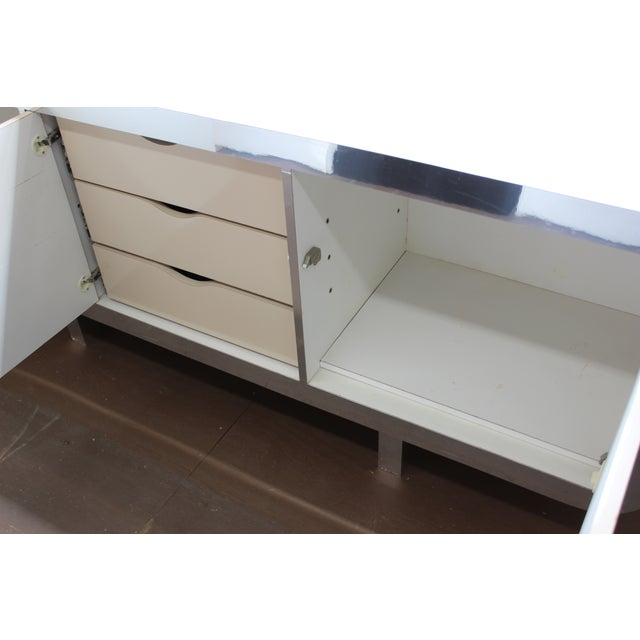 Mid Century Modern Laminate Lacquered Credenza For Sale - Image 5 of 11