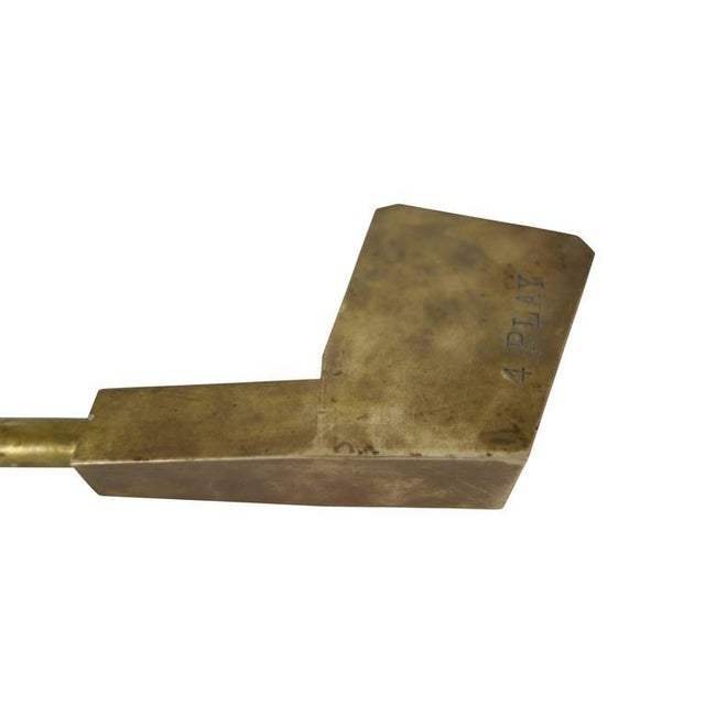 """Traditional Machined Brass """"4 Play"""" Golf Club Sculpture For Sale - Image 3 of 5"""