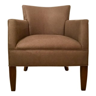 Kravet Transitional Chocolate Brown Tarragona Lounge Chair For Sale