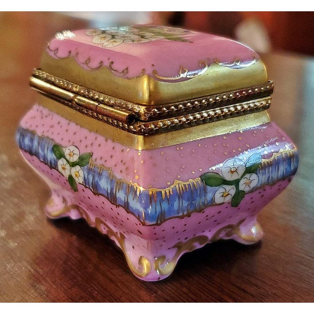 Mid 20th Century Vintage Limoges Sarcophagus Ring Box For Sale - Image 5 of 12