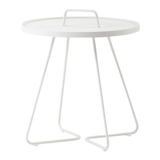 Cane-Line On-The-Move Side Table, Small, White For Sale