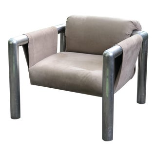 1960 John Mascheroni 424 Aluminum Tube Lounge Chair