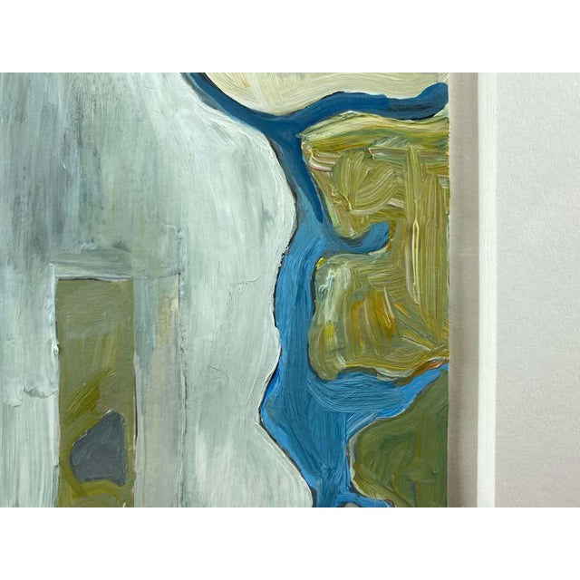 """Green Chase Langford """"Manhattan No. 1"""", Expressionist Oil Painting, 2003 For Sale - Image 8 of 13"""