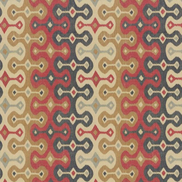 Contemporary Sample - Schumacher X Martyn Lawrence Bullard Darya Ikat Sidewall Wallpaper in Spice For Sale - Image 3 of 3