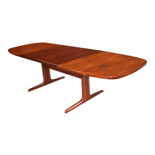 Danish Mid Century Skovby Expandable Rosewood Dining Table For Sale