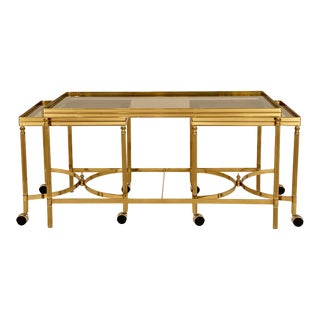 Maison Jansen Nesting Coffee Table Set - Set of 3 For Sale