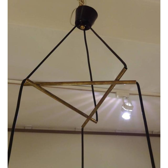 Stilnovo Mobile Shaped Mid-Century Chandelier, Italy circa 1960 For Sale In New York - Image 6 of 10
