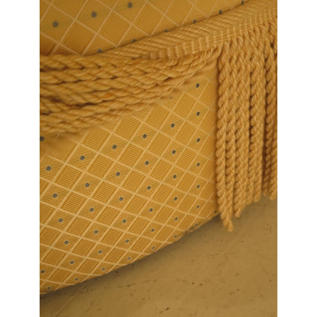 Traditional Traditional Edward Ferrell Ltd Round Tufted Yellow Ottoman For Sale - Image 3 of 7