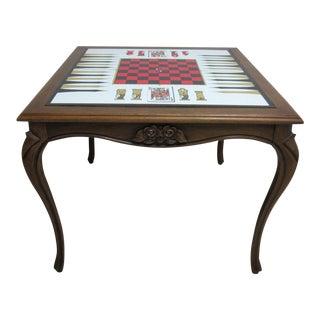 Vintage French Regency Carved Flip Top Card Table