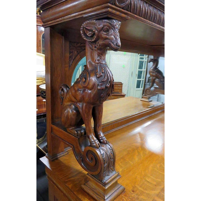 Early 20th Century Renaissance Style Sideboard With Superstructure For Sale - Image 5 of 11